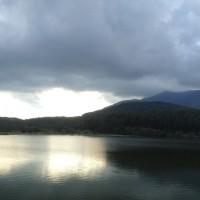 霊仙寺湖にて「パノラマ」撮影
