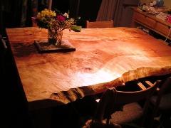 栃ダイニングテーブル(超幅広)