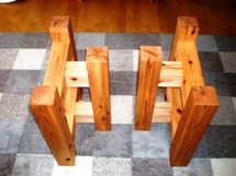 テーブル・座卓兼用脚(杉)